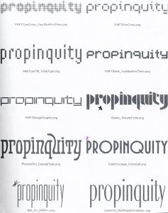 propinquityfont